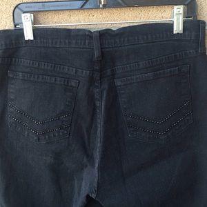 NYDJ Jeans - NYDJ Black Jeans Lift tuck Size 14 Studded Bling